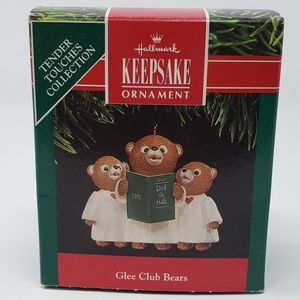 Hallmark 1991 Glee Club Bears Ornament